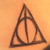 24. Deathly Hallow Tattoo